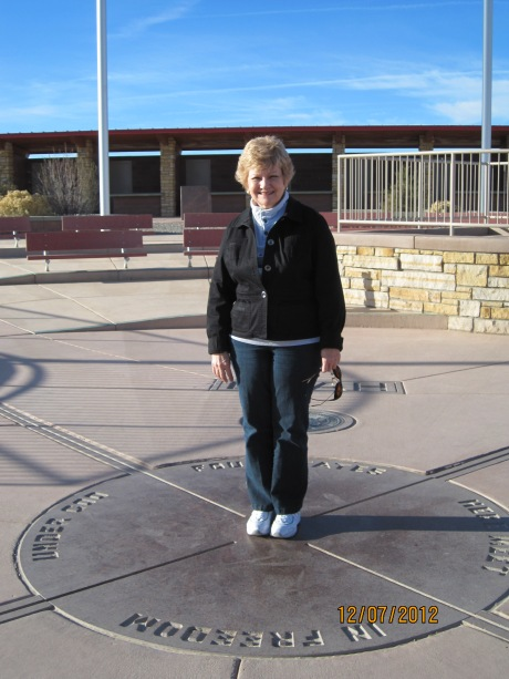 My BFF, Pat, at Four Corners