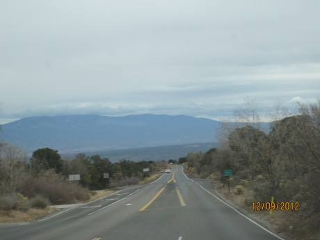 The drive down SR 4 leaving this morning