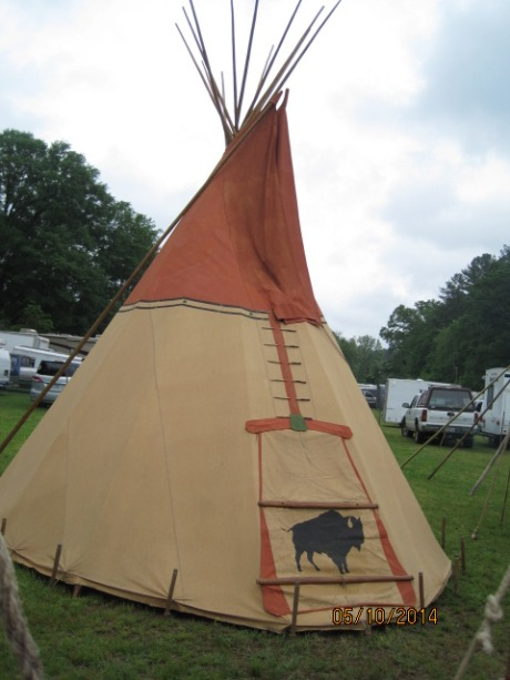 Teepee where these historians reside during the Festival