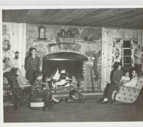 Friend Family 1949 Upstairs LivingRoom by Fire